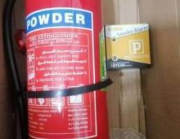 Fire extinguisher + alarm 90 $