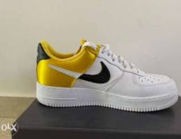 Nike Air Force yellow and white