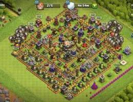 Clash of clans town. H 11