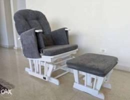 Century Wooden Nursing Chair Reclinable - ...