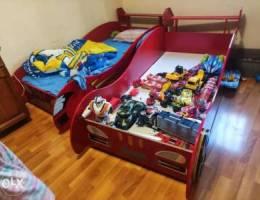 Kids ferrari bed sports car