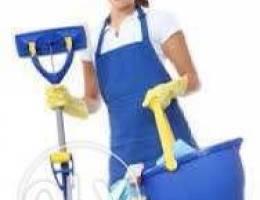 يلزمنا عامله نظافه لبيت عاءله في بيروت برج...