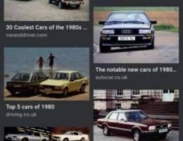 مطلوب سيارات موديل بين 1980 90