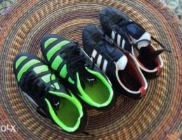 adidas black shoes size 40, puma green and...