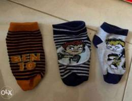 Juniors Ben 10 Set of 3 Socks 3-4 Years