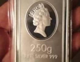 250 grams silver 999. ( sealed )