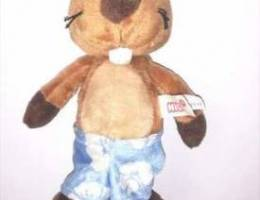 Nici original plush SEATED brown squirrel ...