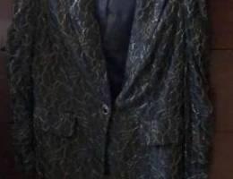 Black dentelle blazer